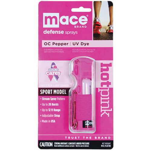 Pink Mace Jogger Pepper Spray front package view
