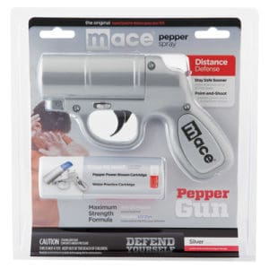 Silver Mace Pepper Spray Gun front package view