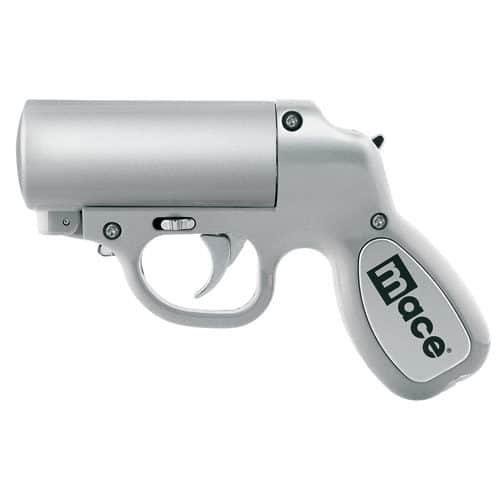 Silver Mace Pepper Spray Gun side view