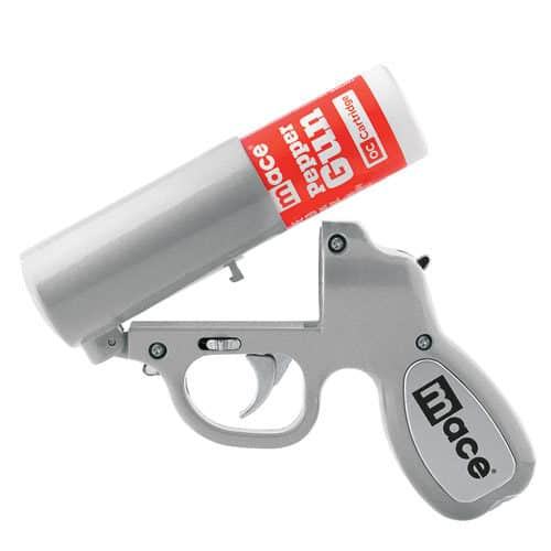 Silver Mace Pepper Spray Gun loading view