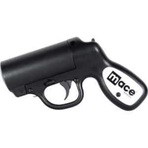 Black Mace Pepper Spray Gun left view