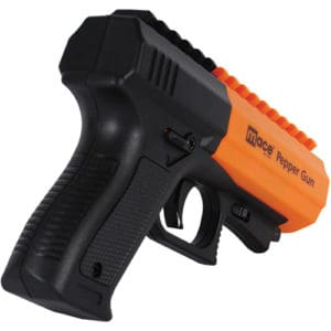 Orange Mace Brand Pepper Spray Gun 2.0 back view