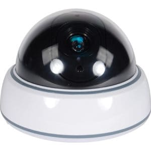 white Ceiling Dummy Dome Camera for Home Security Deterrence Front View