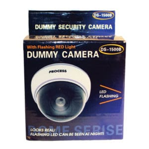 White Ceiling Dummy Dome Camera for Home Security Deterrence Box View