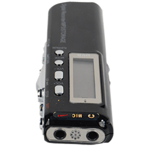Digital recorder top end view