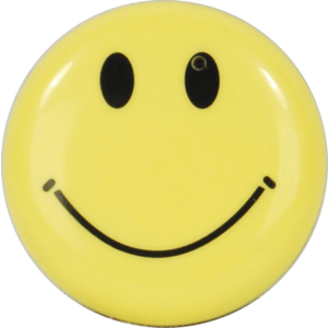 Yellow Smiley Face Hidden Camera front view