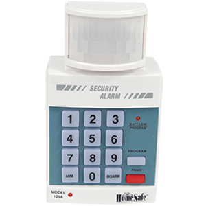 Home security alarm keypad front view