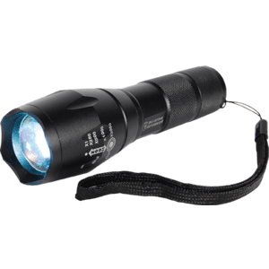 mini safety flashlight front view