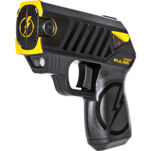 Black and Yellow taser pistol front view